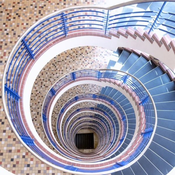 Spiral-stairs-down